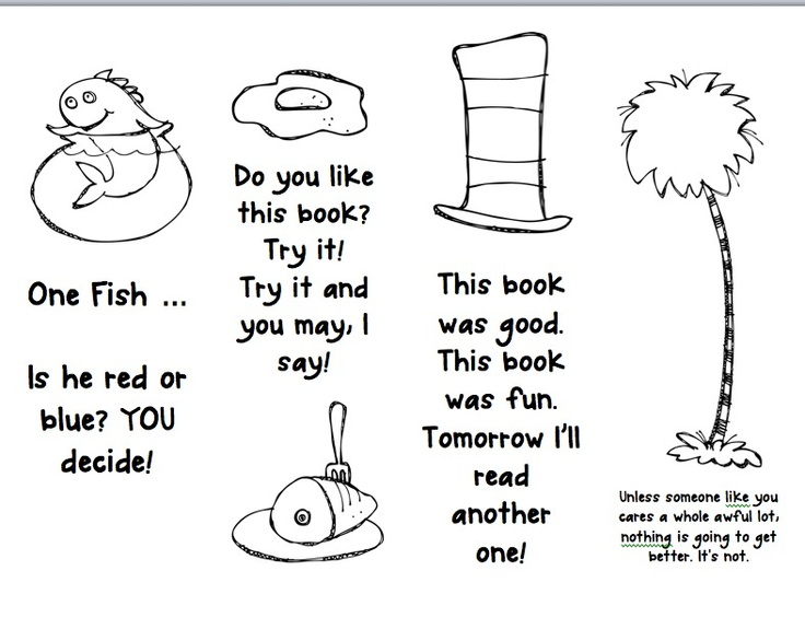 9 Images of Free Dr. Seuss Printable Bookmarks To Color