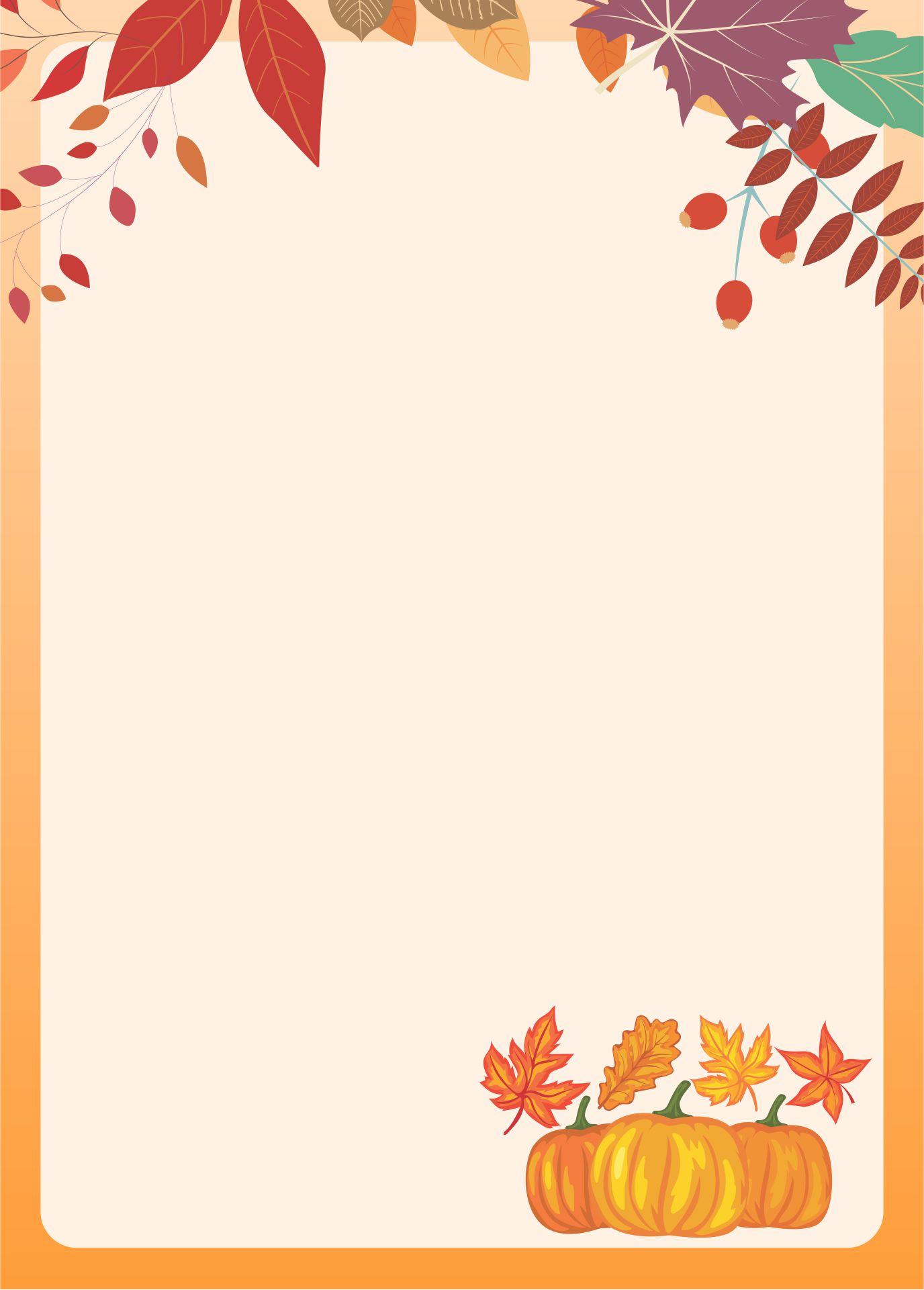 Printable Fall Stationery Borders