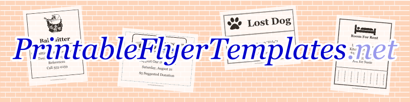 Doc444575 Printable Flyer Maker Free free printable flyer – Printable Flyer Maker Free