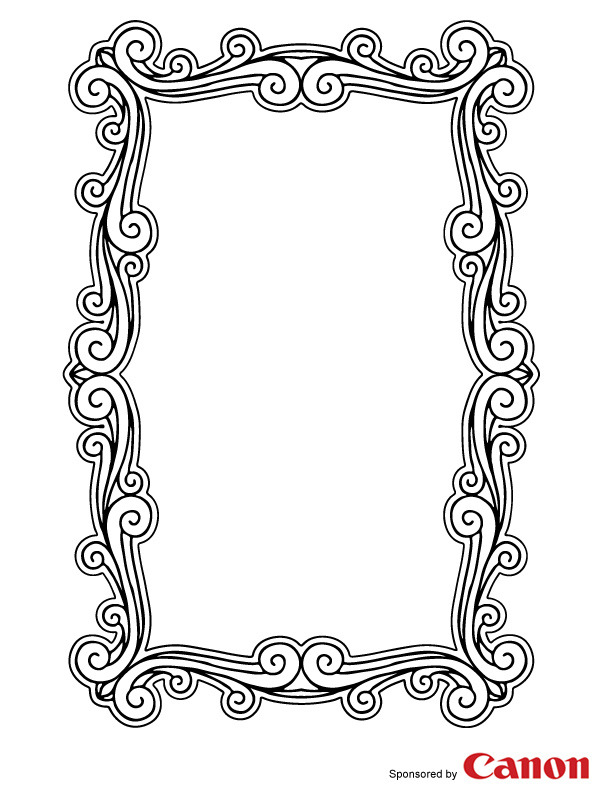 5 Images of Picture Frame Templates For Kids Printable
