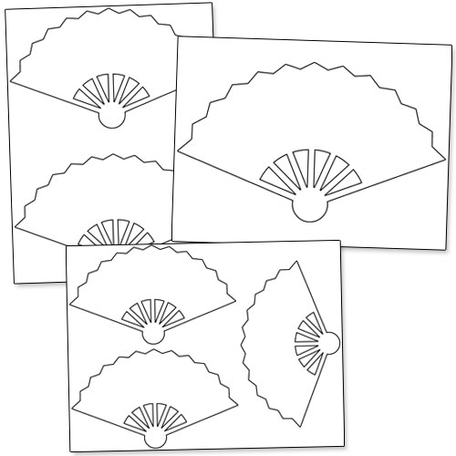 Free Printable Hand Fan Templates