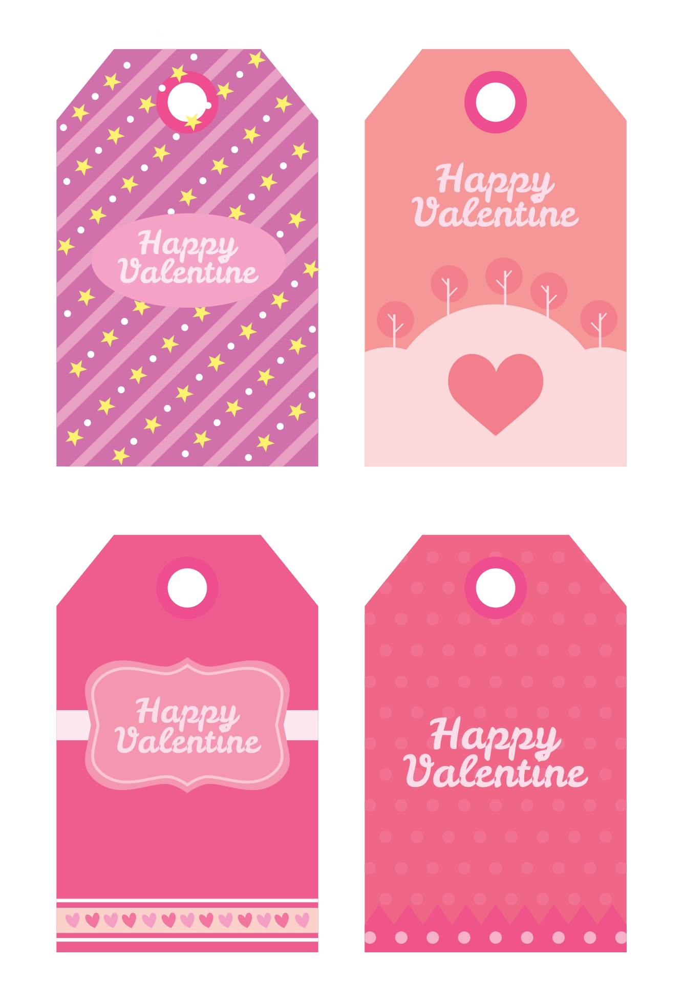 7 Images of Valentine's Gift Tag Printables