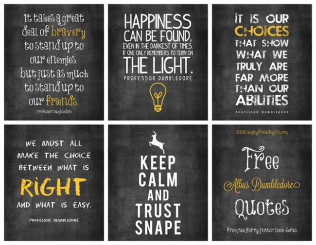 7 Images of Harry Potter Printables