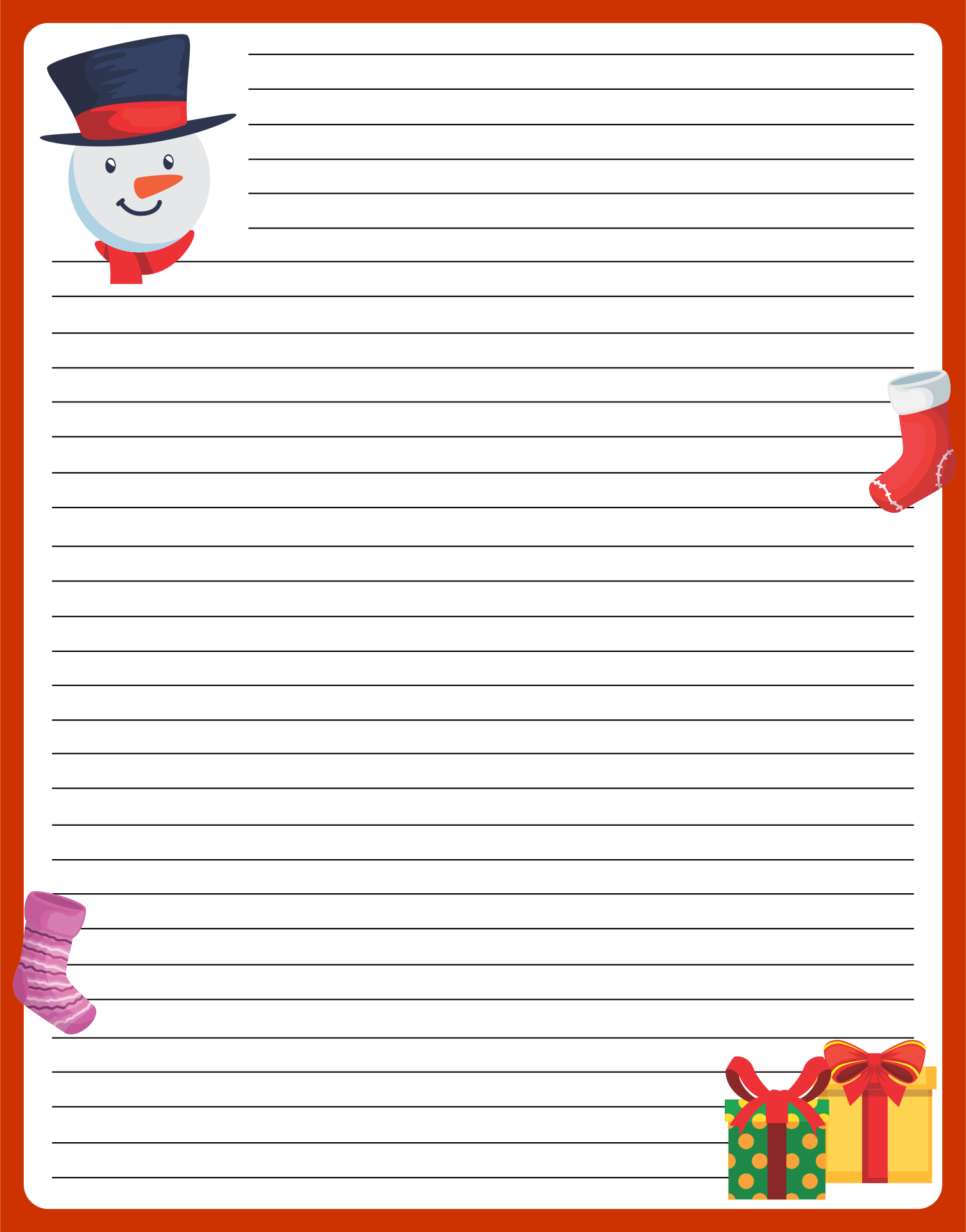 Printable Holiday Letter Templates