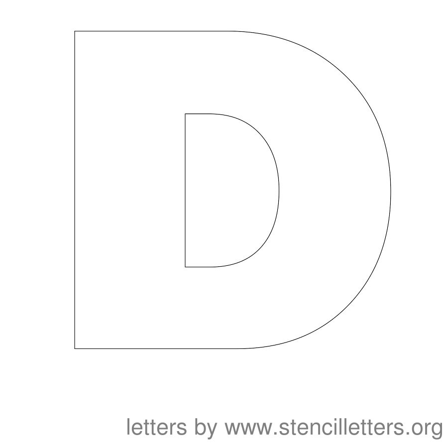 6 Images of Printable Letter Stencils D