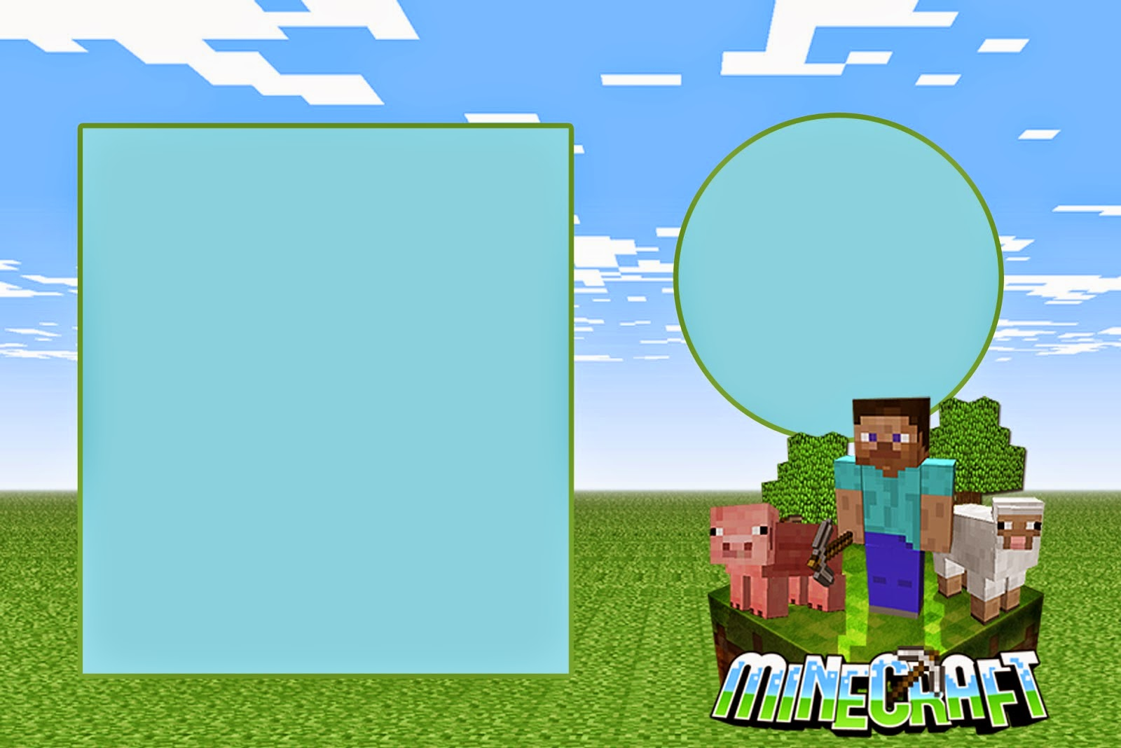 Minecraft Invitations Template – Mine Craft Invitation Template
