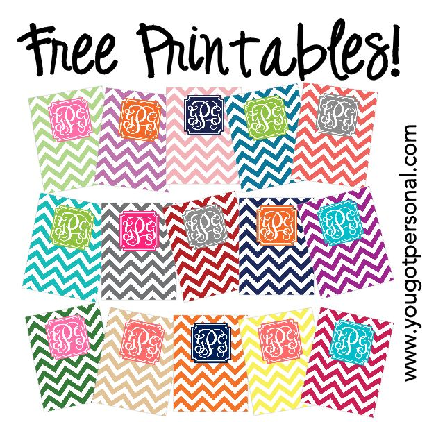 8 Images of Free Printable Chevron Binder