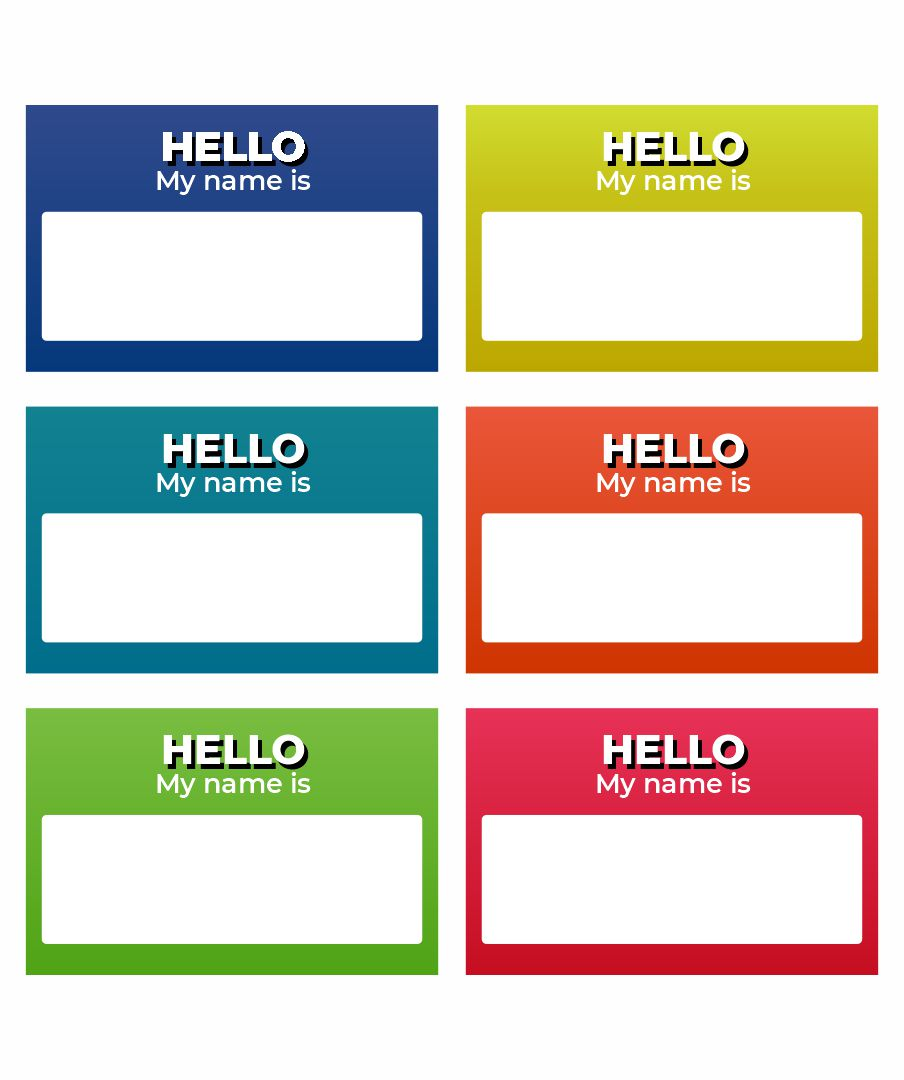 Printable Name Tag Borders