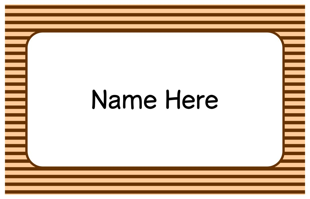 Printable Name Tags Templates