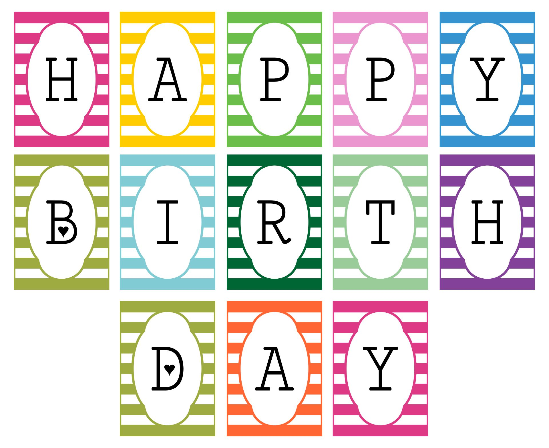 6 Images of DIY Birthday Banner Printable Template