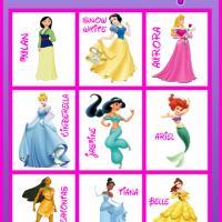6 Images of Disney Princess Bingo Printable Cards