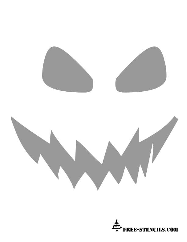 9 Images of Simple Pumpkin Carving Printable Stencils