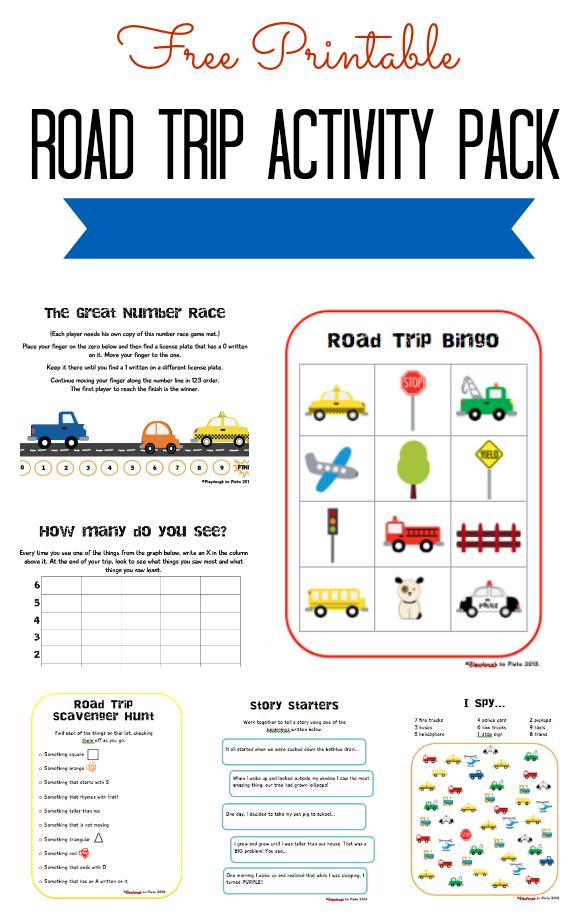 5 Images of Printable Road Trip Games