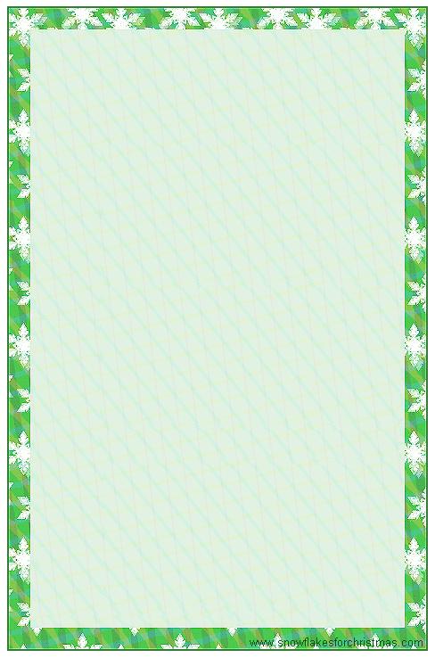 Free Printable Snowflake Writing Paper