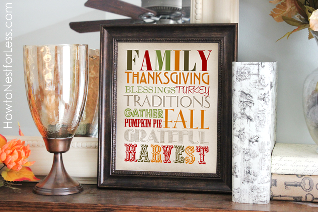Free Printable Thanksgiving Sign