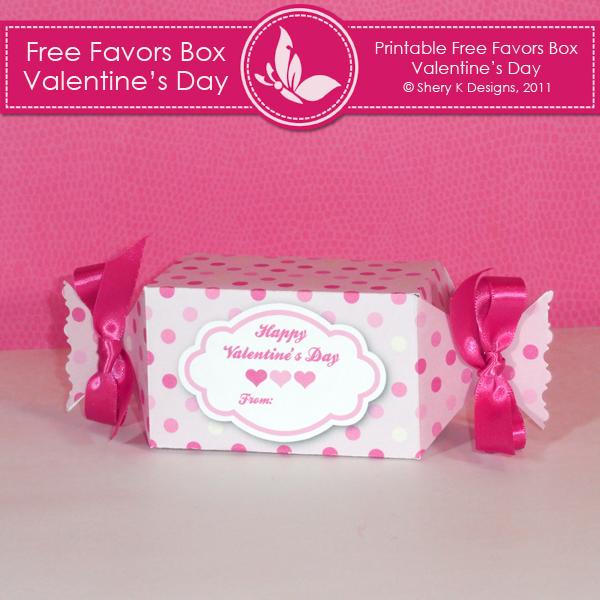 Free Printable Valentine Favor Box