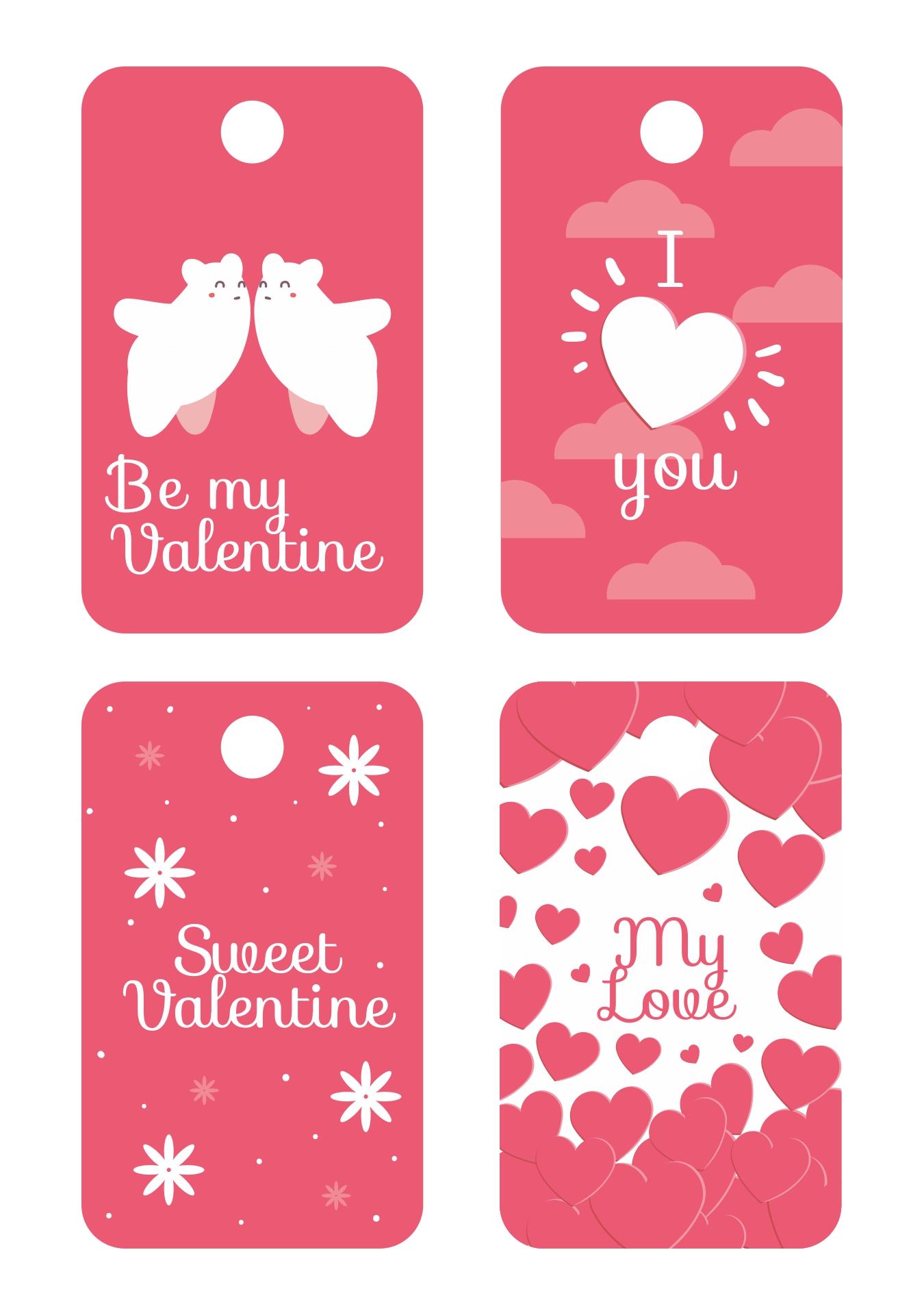 Printable Valentine Tags