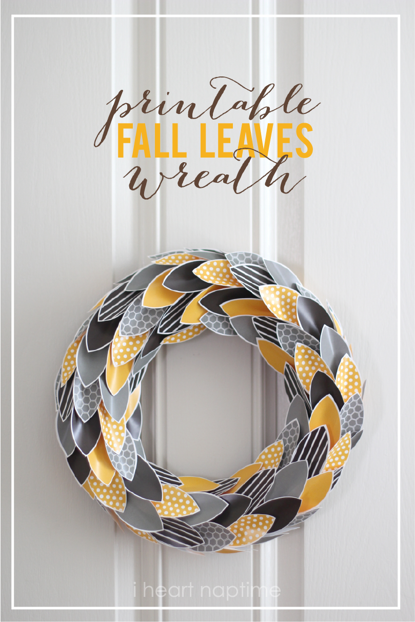 4 Images of Wreath Fall Crafts Printable