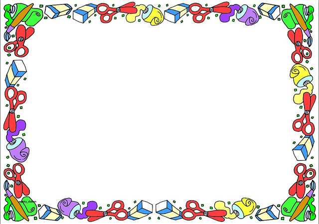 Free School Themed Border Paper