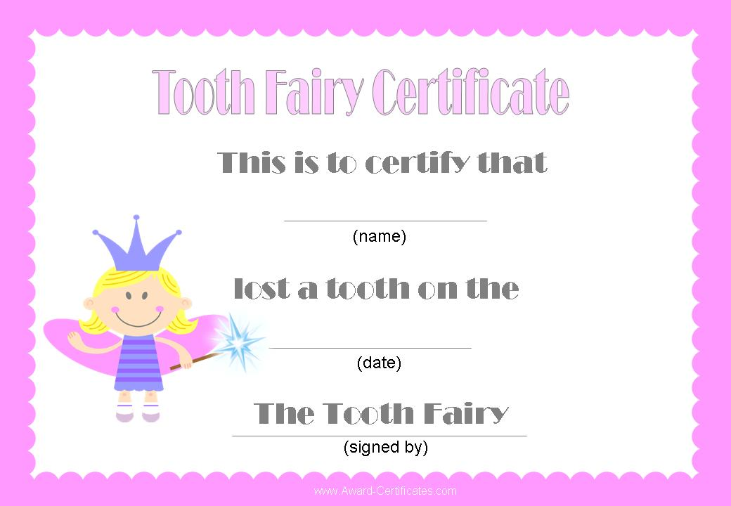 7 Images of Printable Tooth Fairy Cards