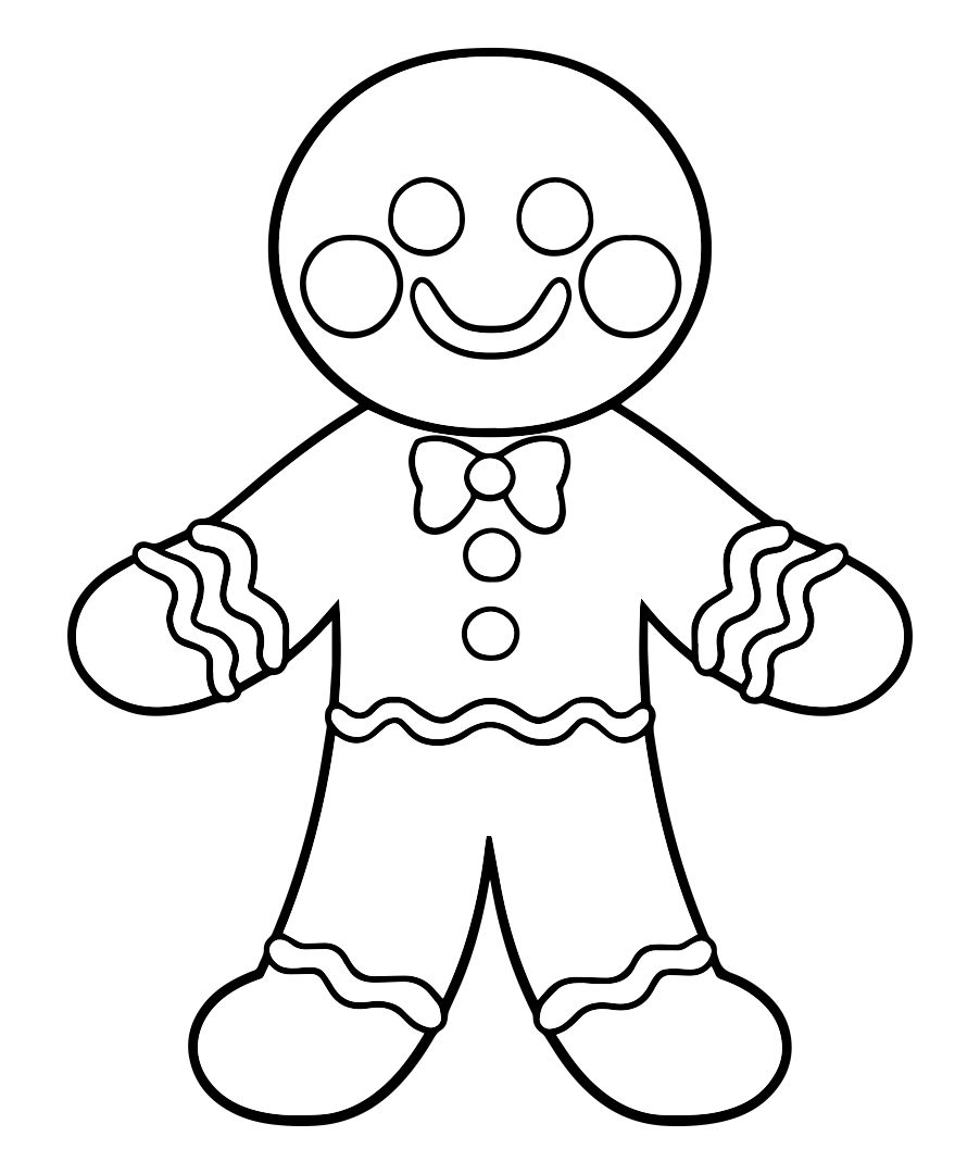 4 Best Images of Gingerbread Template Printable ...