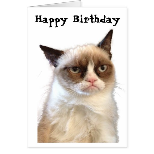 6 Images of Grumpy Cat Birthday Card Printable