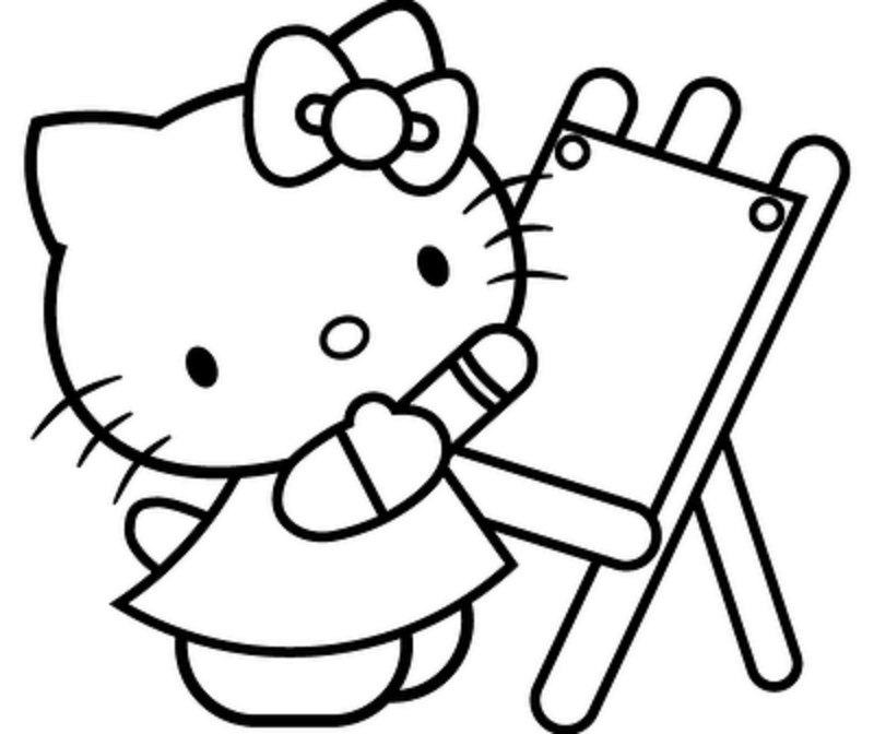 4 Images of Cute Hello Kitty Printable Coloring Pages