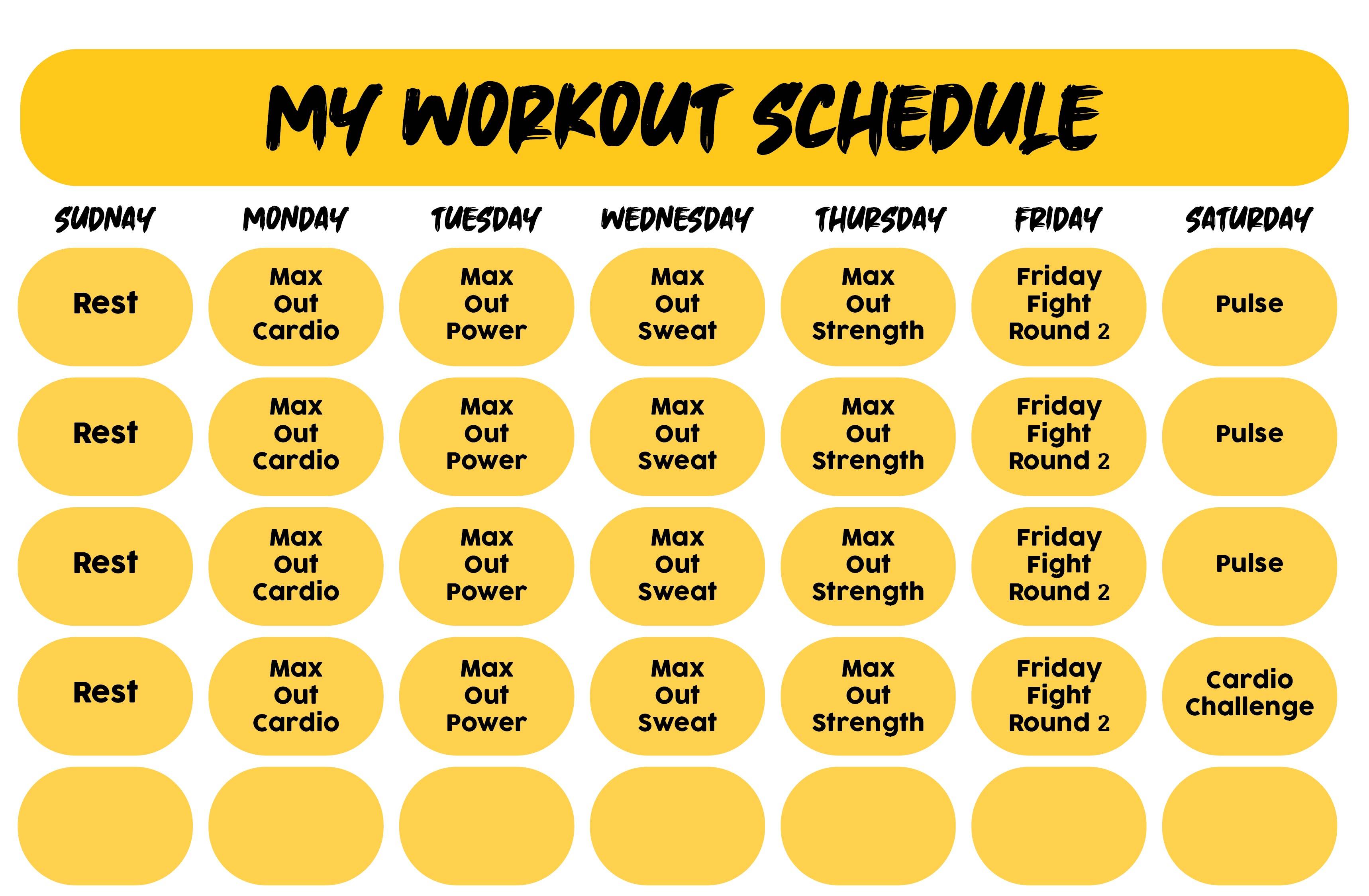 Insanity Workout Calendar Month 2