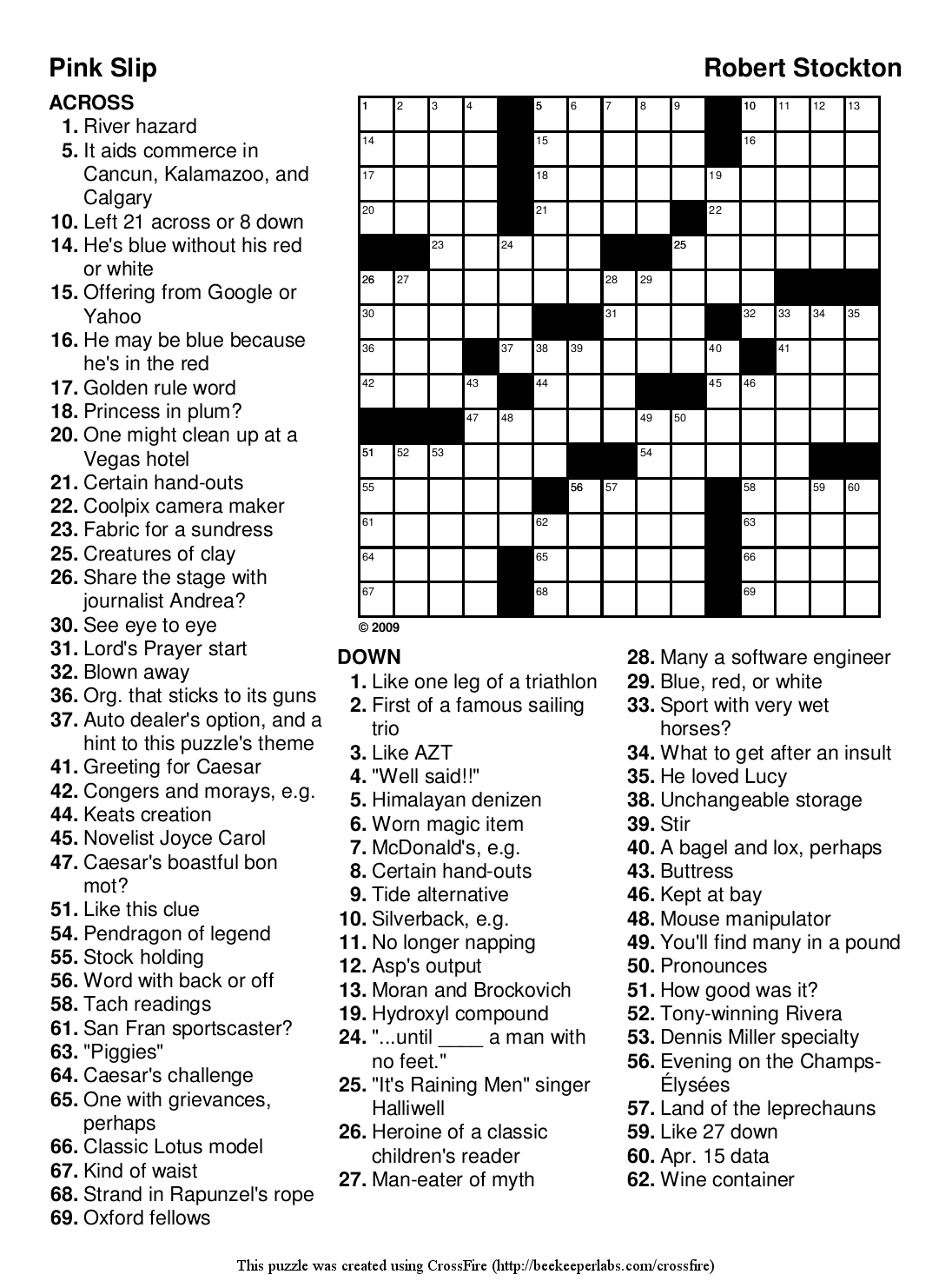 5 Images of Free Printable Easy Crossword Puzzles
