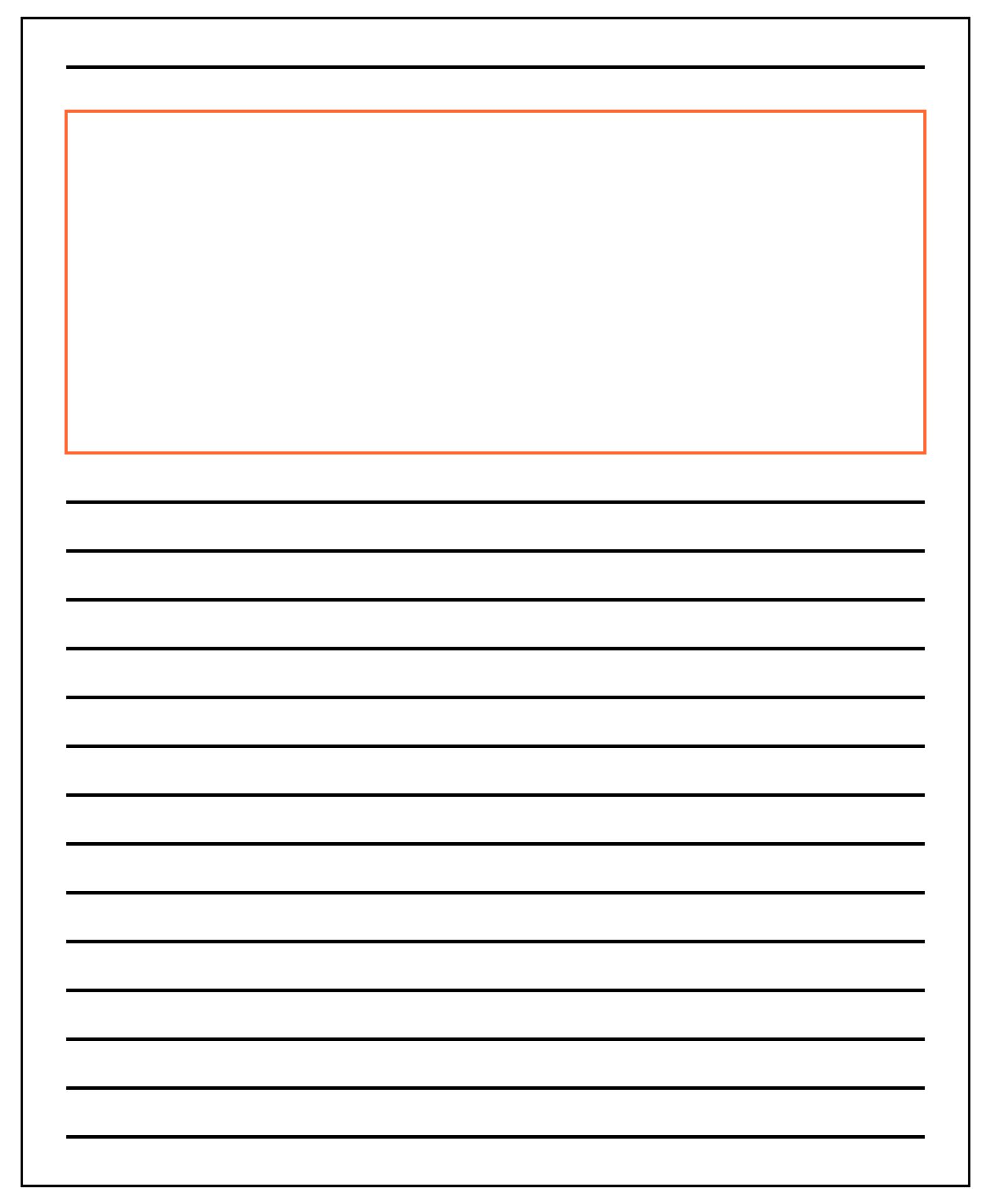 Lined Paper With Drawing Box incident report sample format – Lined Paper with Drawing Box