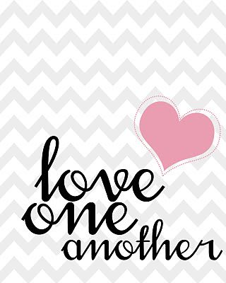 5 Images of Love One Another Printable