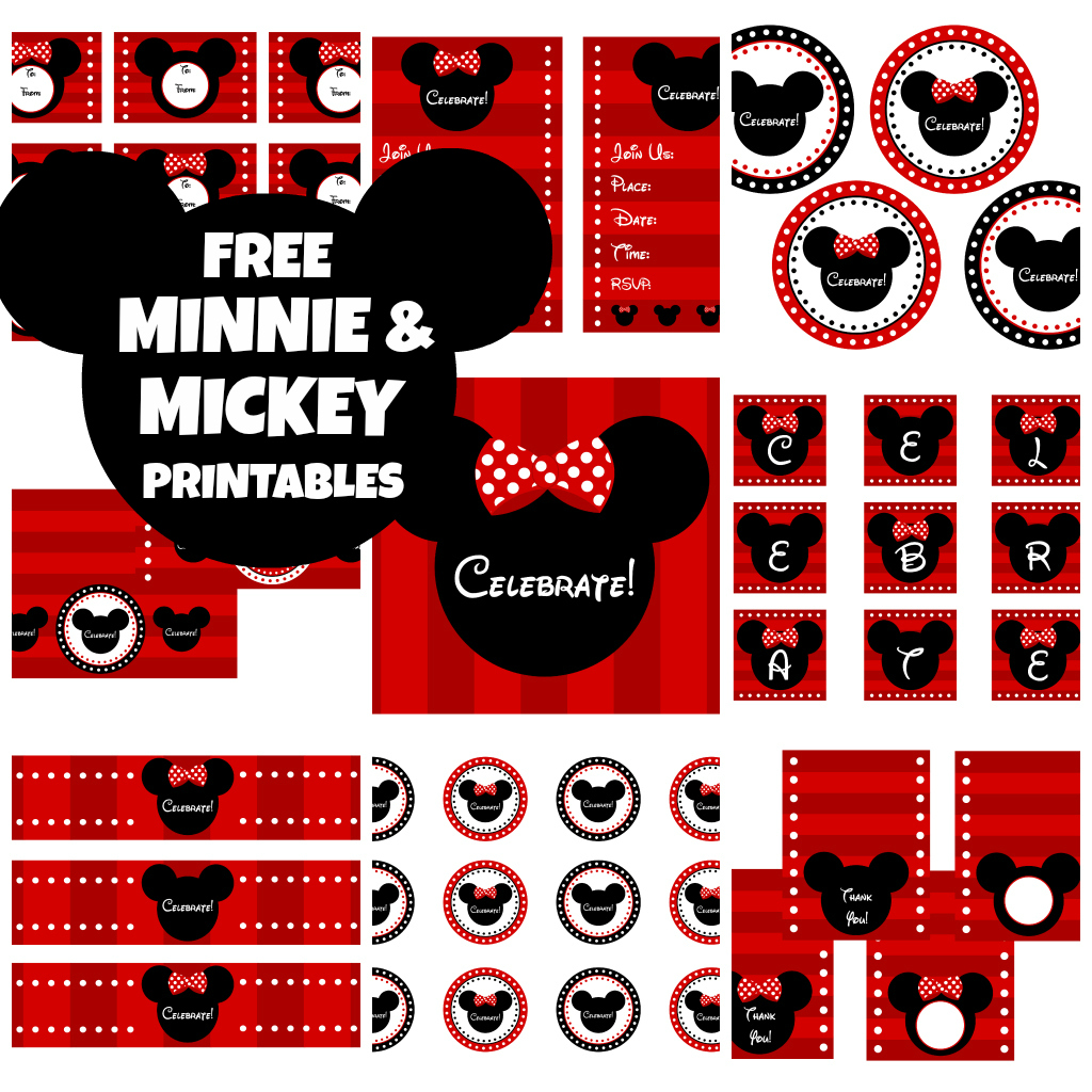 4 Images of Minnie Mouse Birthday Party Printables