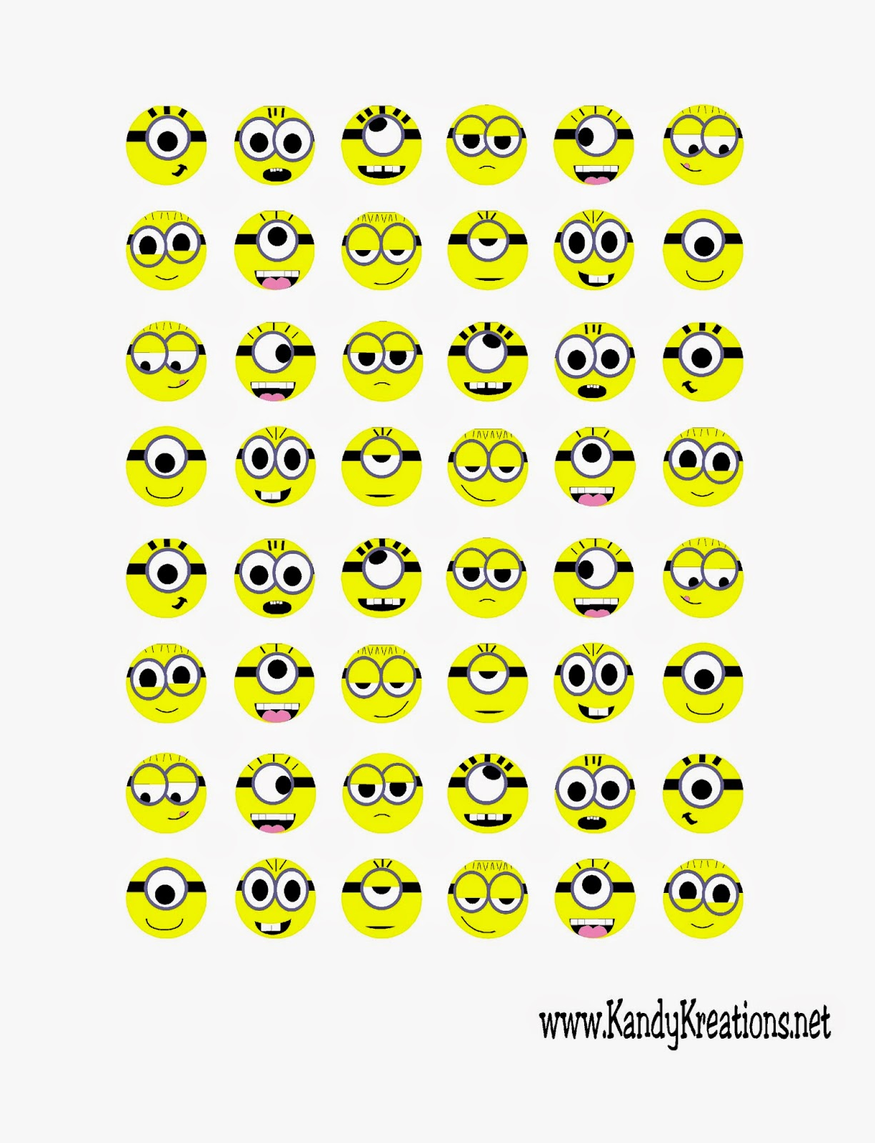 Minion Face Stickers