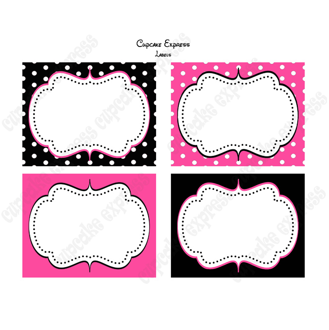8 Images of Minnie Mouse Free Printable Labels