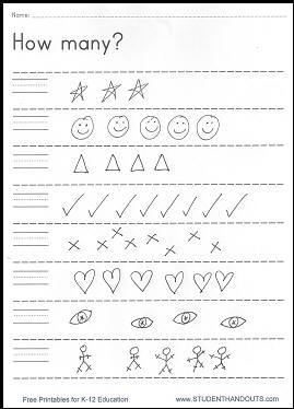 Worksheets Free Printable Pre K Math Worksheets 4 best images of free printable worksheets pre k math via kindergarten printables