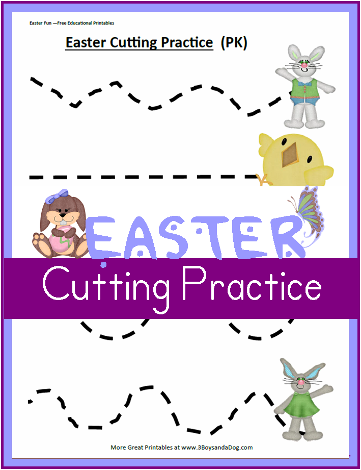 5 Images of Free Printable Cutting Worksheets Preschool