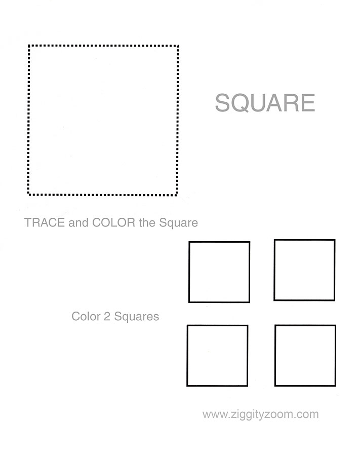 Printables Square Worksheets 5 best images of printable square shapes worksheets preschool shape