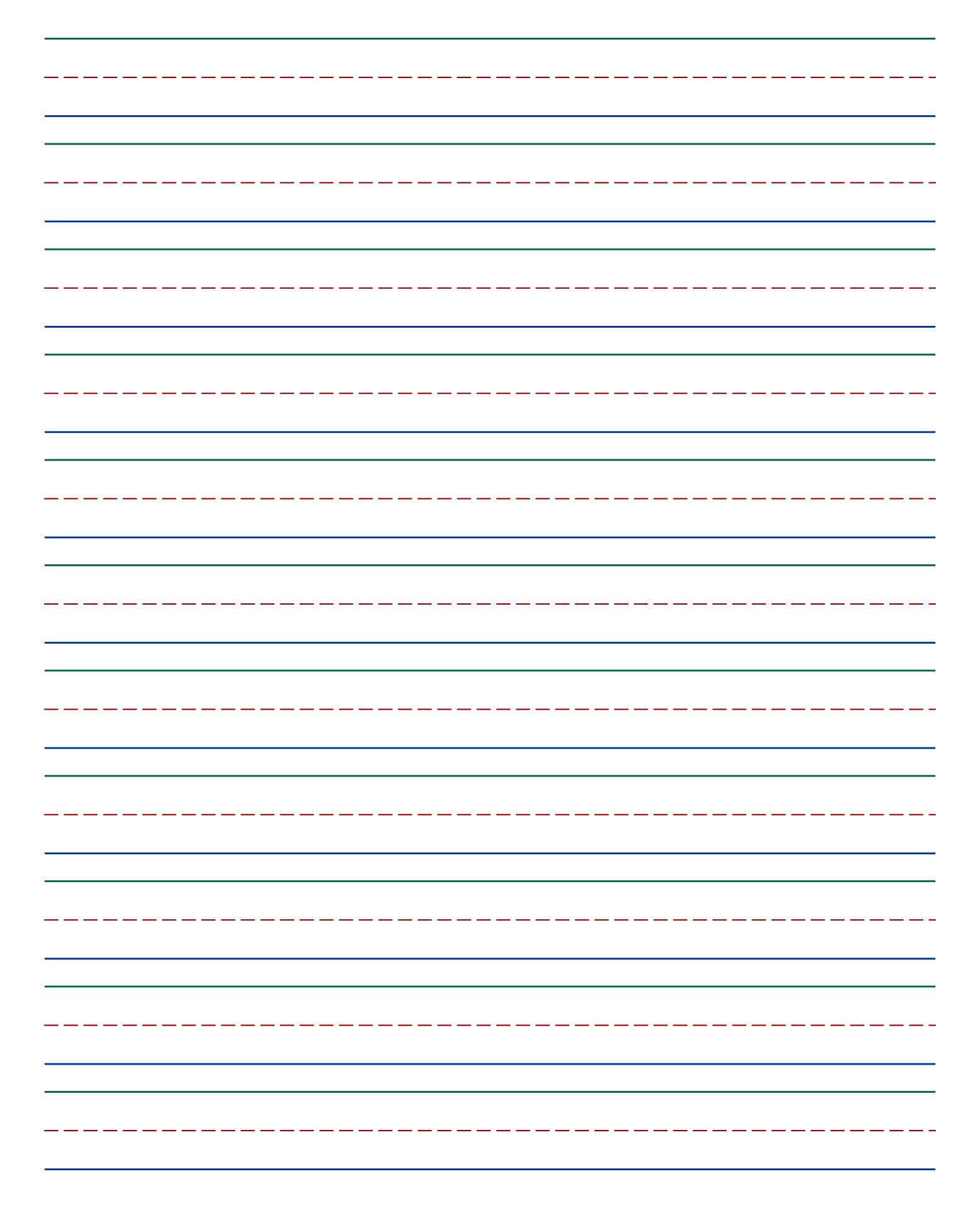 handwriting paper to print