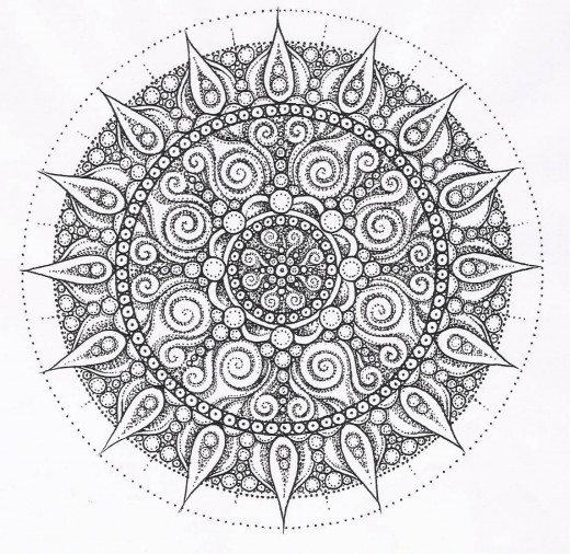 5 Images of Mandala Printable Coloring Pages For Adults
