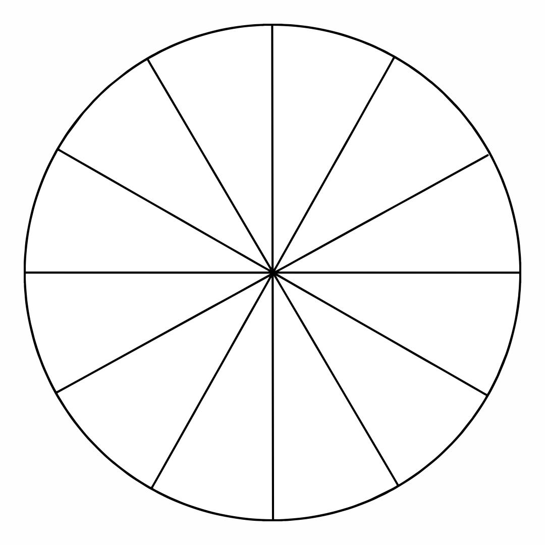 Printable Blank Color Wheel Template