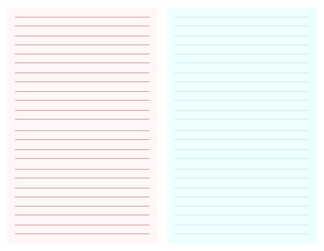 Printable Blank Notes Page Template