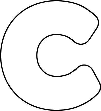 5 best images of large printable cut out letter c for Large letter c template
