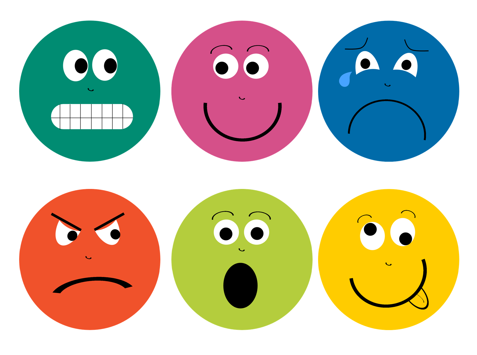8 Images of Feeling Faces Printables