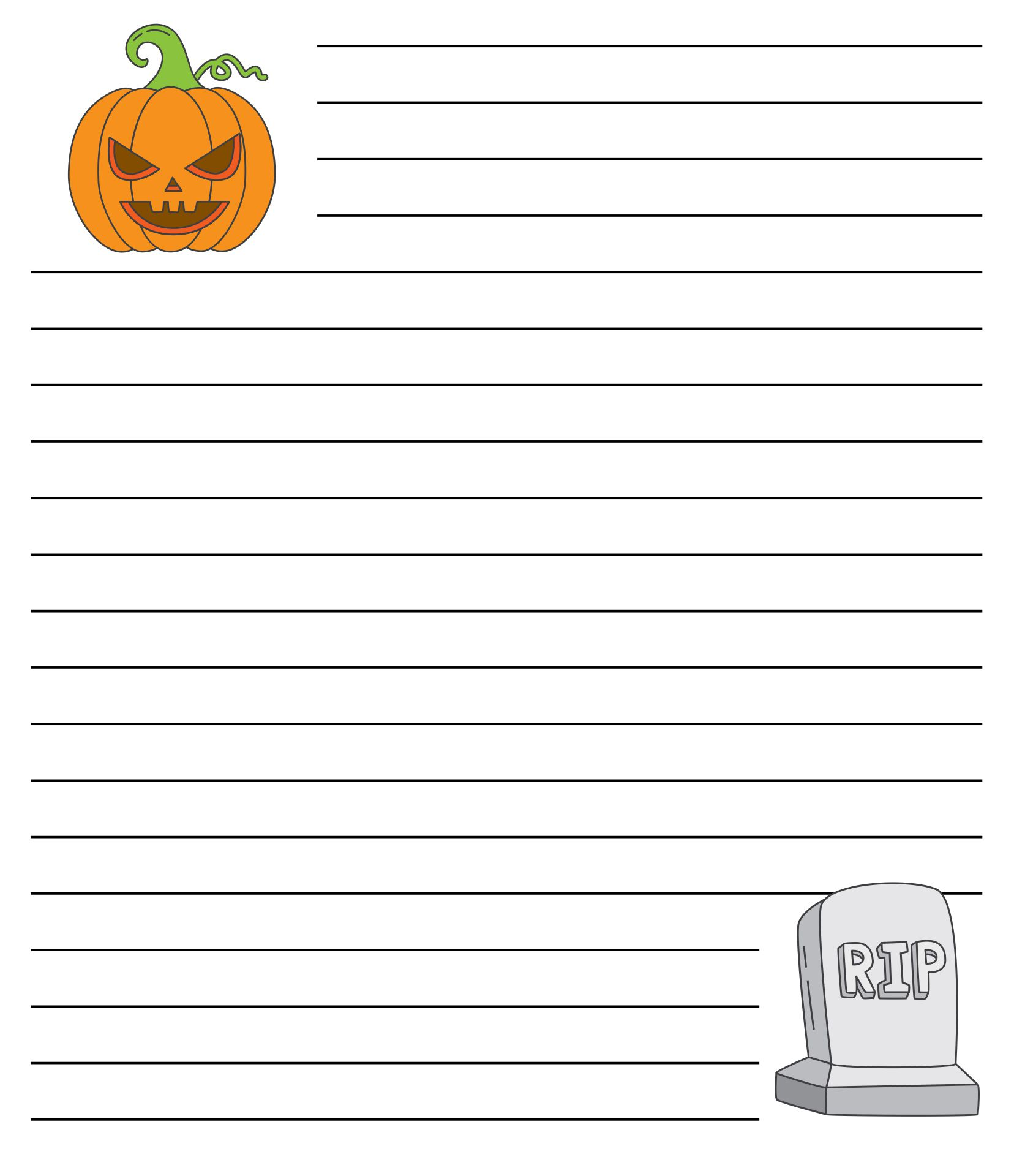 6 Images of Printable Halloween Letter Head