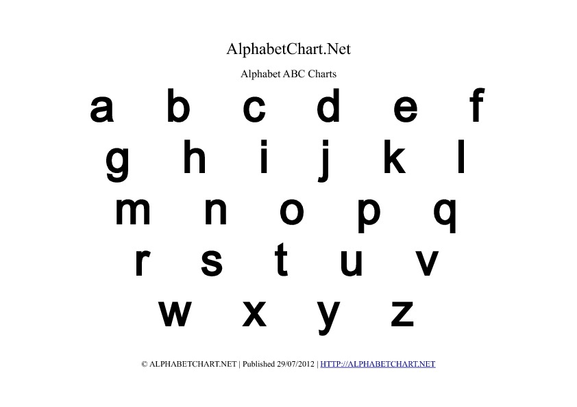 8 Images of Lower Case Letters Printables