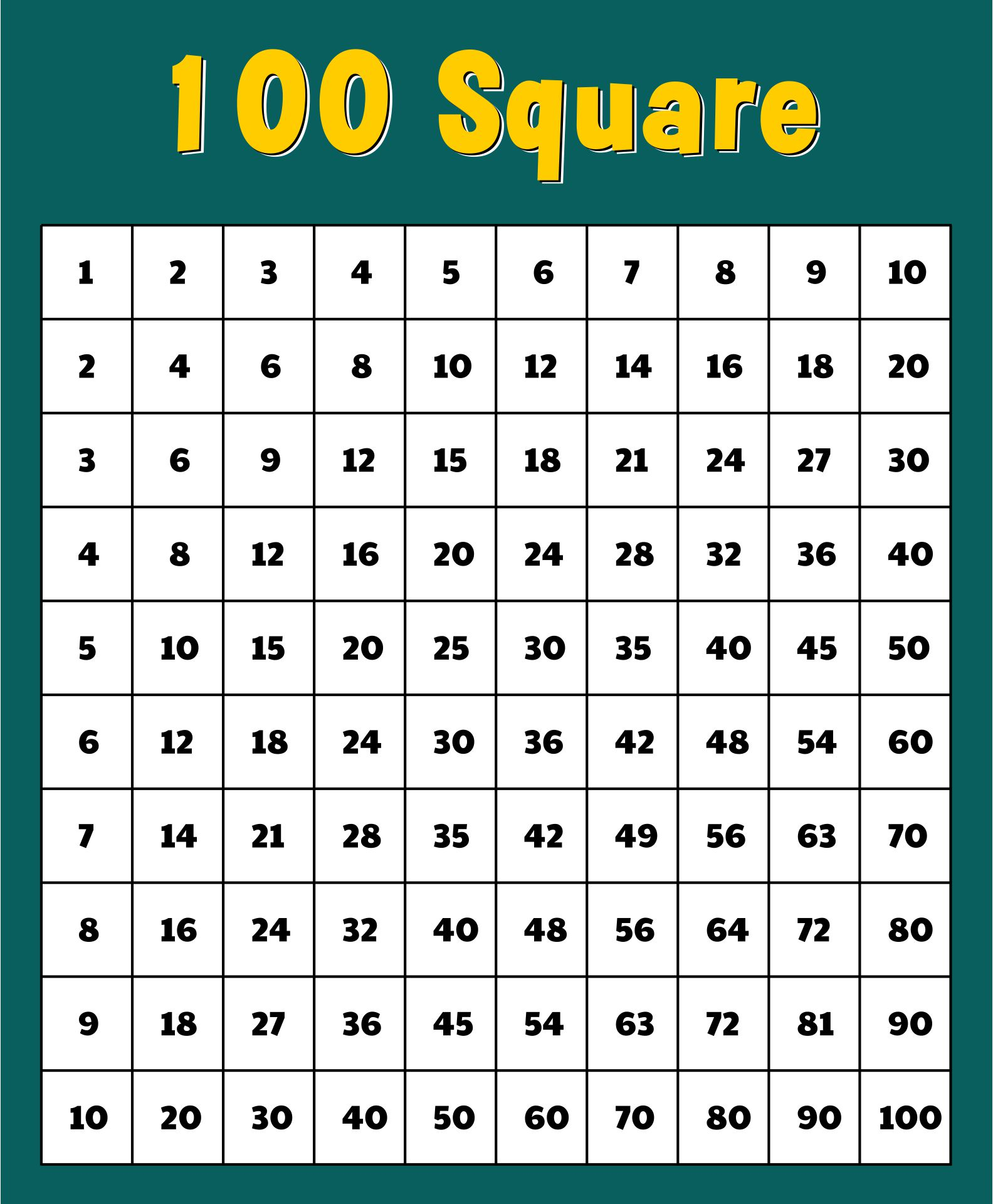 Printable Number Grid