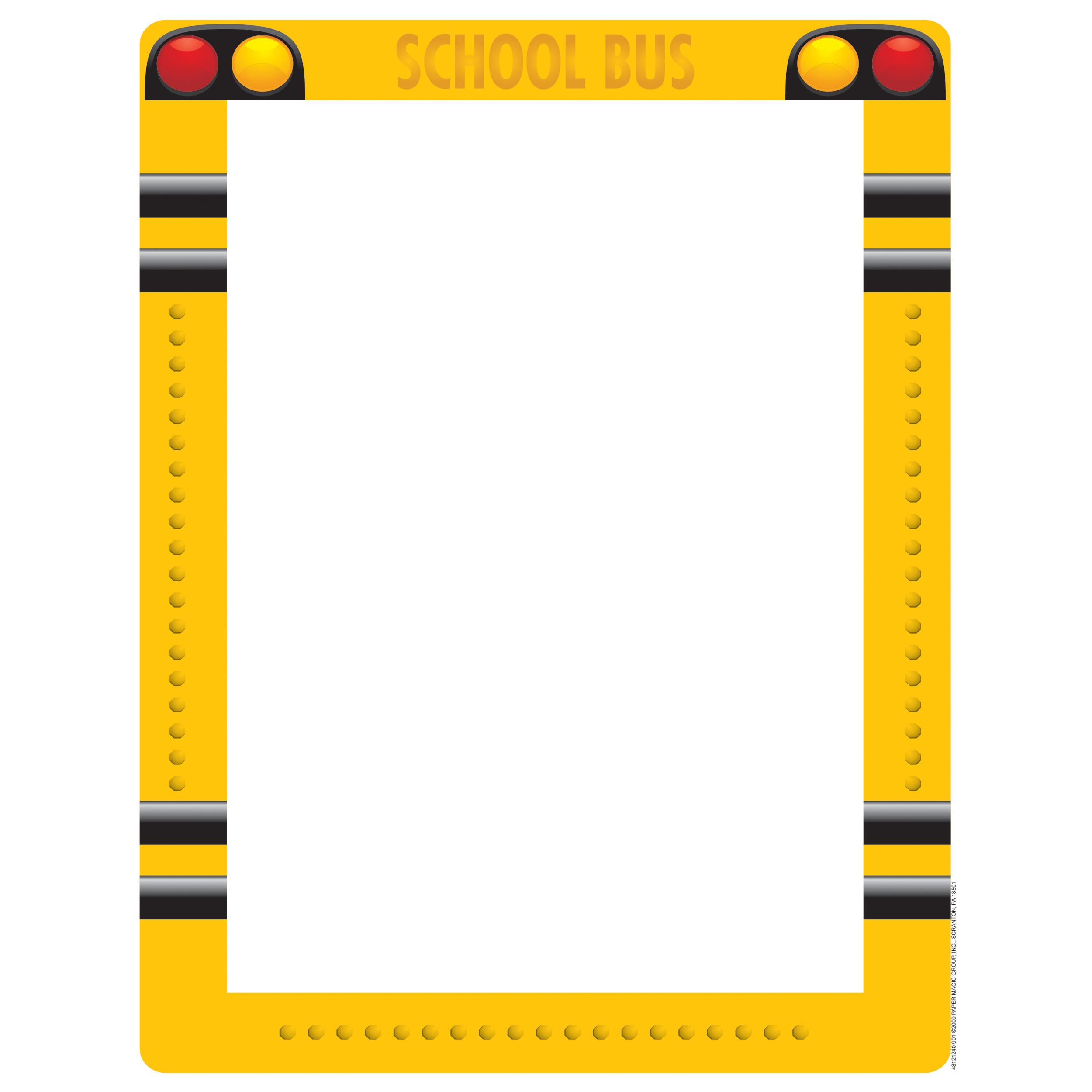 Printable School Bus Border