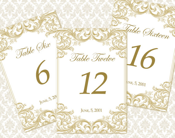 8 best images of printable wedding table number templates wedding table number templates free for Wedding table numbers template