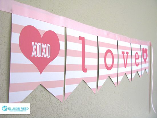 5 Images of Free Printable Valentine Banner