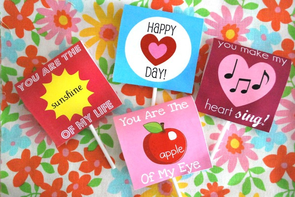 4 Images of Free Printable Lollipop Covers
